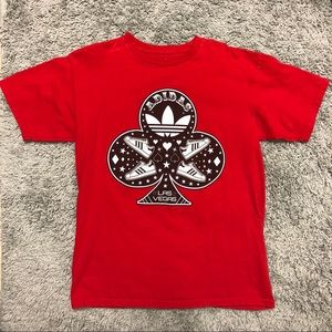 Rare Adidas Las Vegas Red/Black Club Card T-Shirt